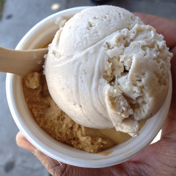 Salted Caramel And Banana Ice Cream Topped With Salted Walnut Crumble @ Bi-Rite Creamery