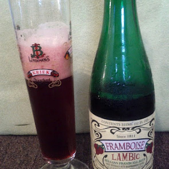 Lindeman's Framboise Raspberry Lambic @ no place