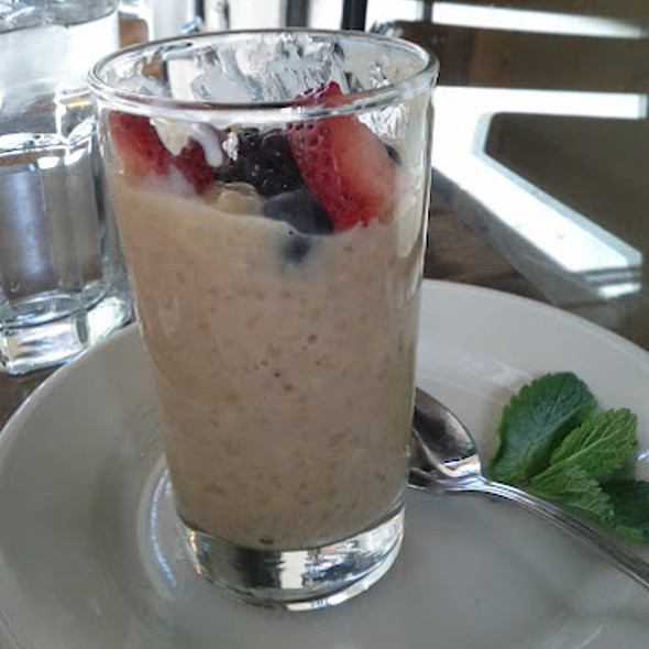 Brown rice pudding with soy milk and agave @ Le Pain Quotidien