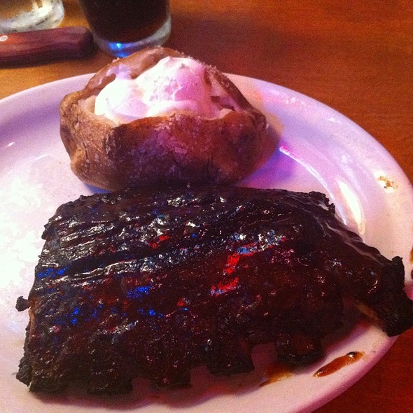 Half Rack Of Ribs And Baked Potato @ Texas Roadhouse