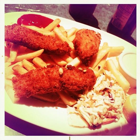Salmon Fish and Chips @ Rosie McCann's Irish Pub & Restaurant