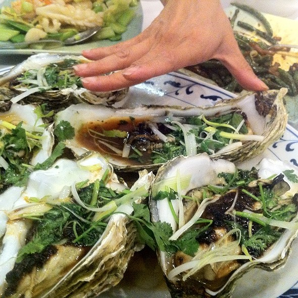 Steamed Oysters With Garlic @ Ok Restaurant