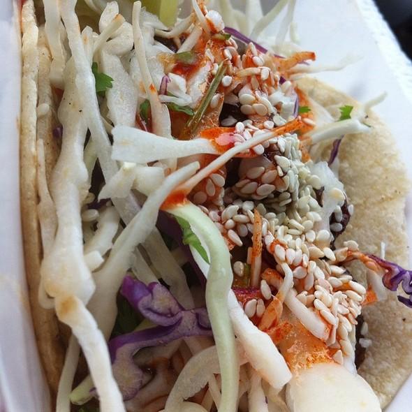 Korean BBQ Beef Taco @ Coreanos Houston