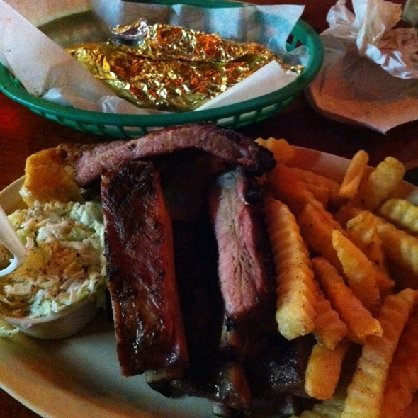 Ribs With Coleslaw, Fries, & Sweet Potato - Shorty's BBQ - South Miami, Miami, FL
