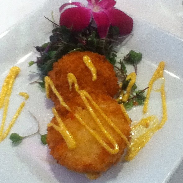 Saffron Asiago Risotto Cakes - The Oregon Grille, Hunt Valley, MD