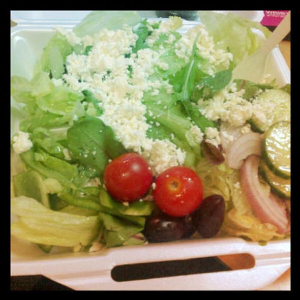 Greek Salad @ Aegean Restaurant