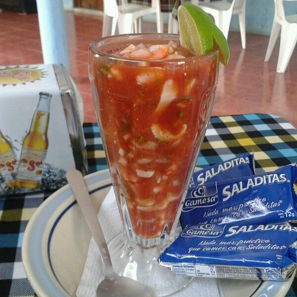 Mixed Cocktail- Shrimp-caracole- octopus @ Los Pepes Tulum