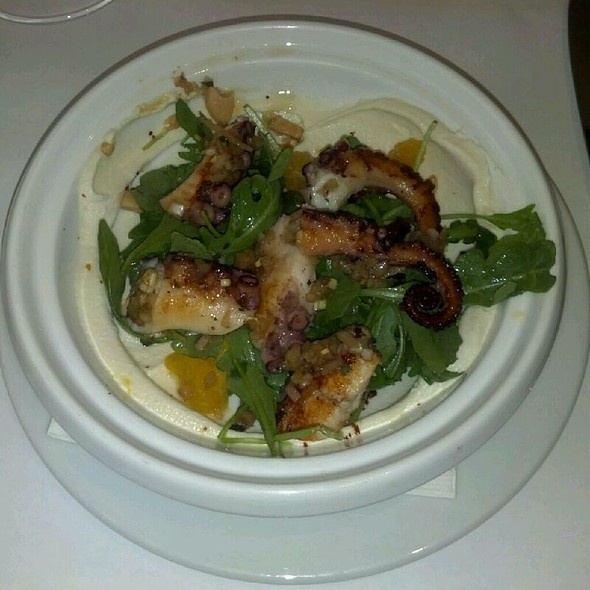 grilled octopus a la plancha with roasted celery root, balsamic-watercress emulsion.  #nyc @ Boulud Sud