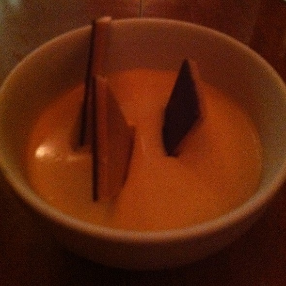 Butterscotch and chocolate pot de crème @ Town Hall Restaurant