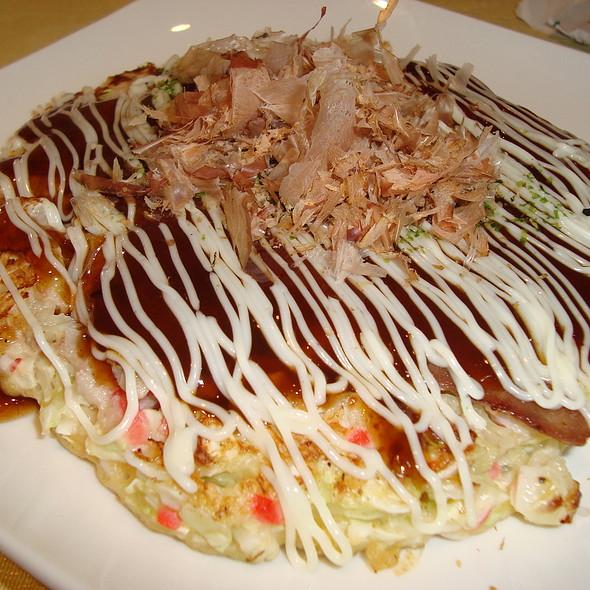 Kansai Style Pork Okonomiyaki