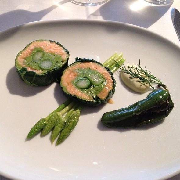 Salmon, Wild Asparagus @ Restaurant Concordia
