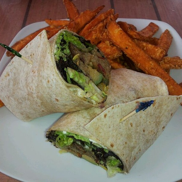 Veggie Wrap @ Whistle Stop Grill & Bar