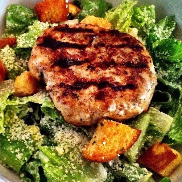 Turkey Burger Caesar Salad @ LT Burger