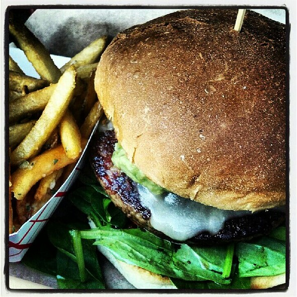 California Burger With Garlic Fries @ Deemer's American Grill