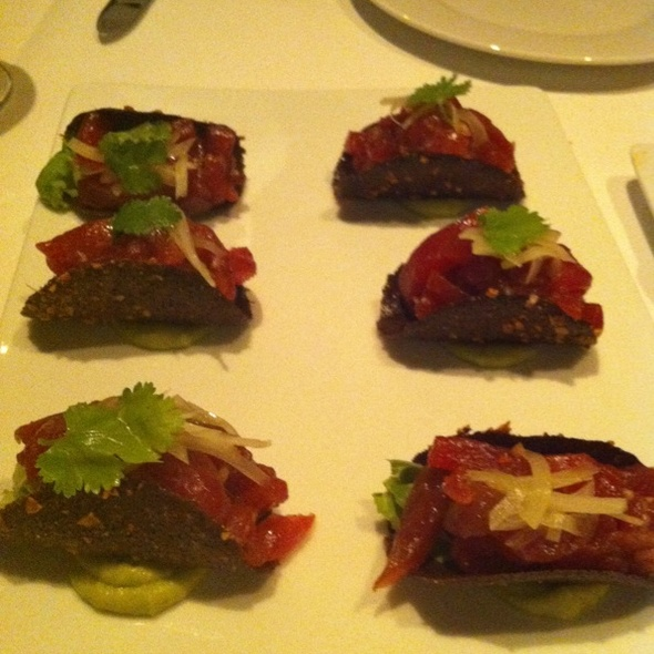 Tuna Tartar Tacos @ La Fonda Del Sol