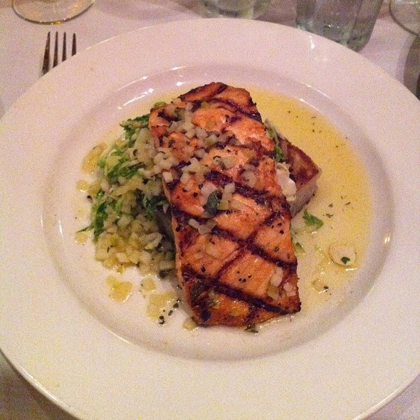Salmon, Potato Latke And Broccoli Slaw - Bistro Bella Vita, Grand Rapids, MI