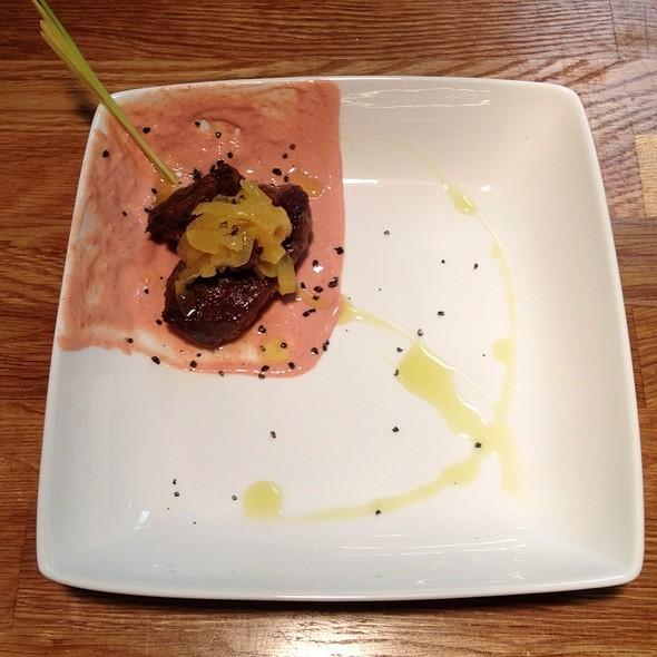 Tandoori Spiced Pork Cheek, Yogurt, Pickled Peaches @ The Owl