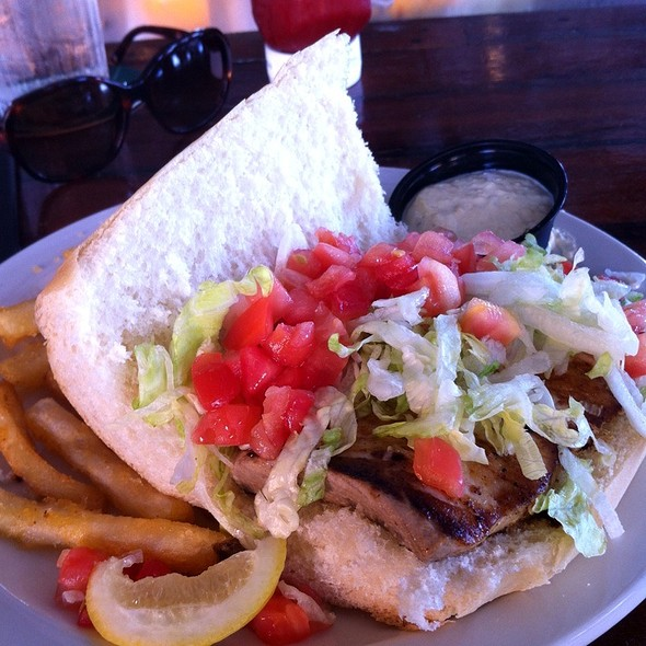 Catch of the day sandwich  @ Conch Republic Seafood