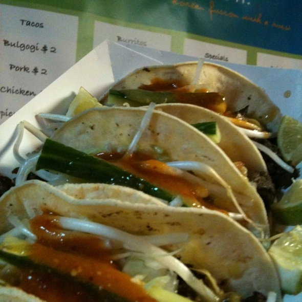 Korean Short Rib Tacos @ Koi Fusion Food Truck