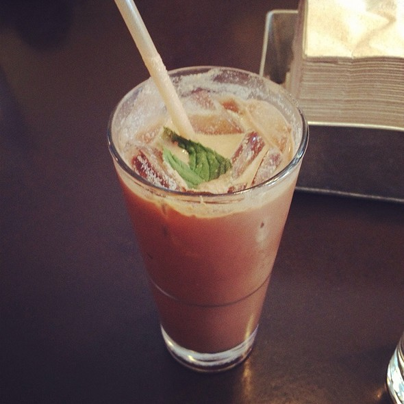 Iced Chocolate With Garden Mint