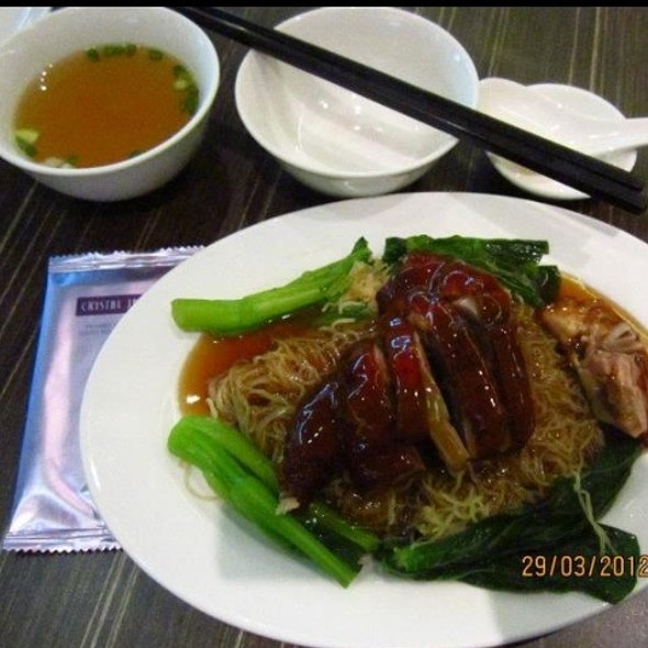 Savoury Roasted Duck with Egg Noodle