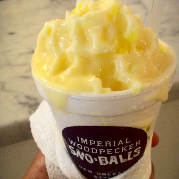 Birthday Cake Snow Ball With Sweet Condensed Milk @ Imperial Woodpecker Snow-Balls