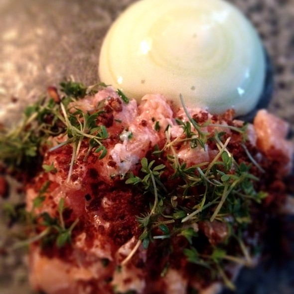 Salmon Tartar W/Cucumber Foam And Crispy Rye Crumble @ Restaurant Cofoco