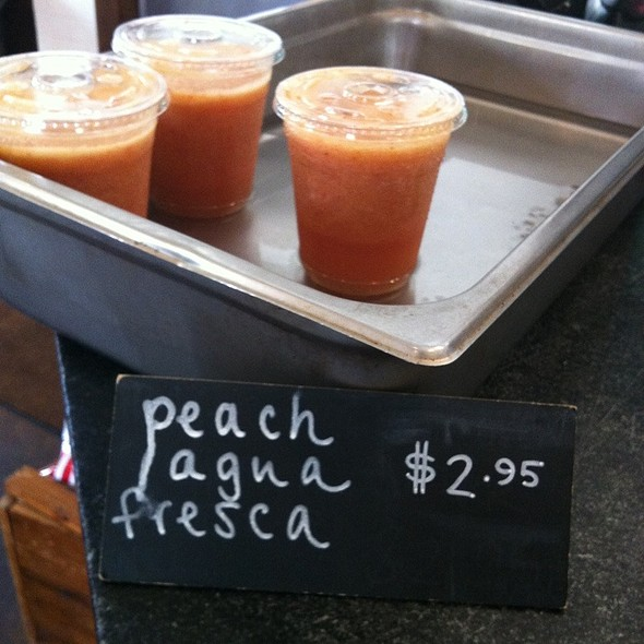 Peach Agua Fresca @ Revival Market