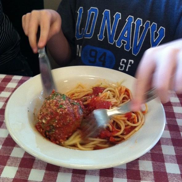 Kids Speghetti And Meatball @ D'Amico's Italian