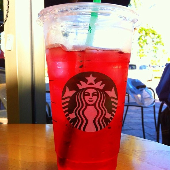 Tazo Iced Passion Tea @ Starbuck Redlands