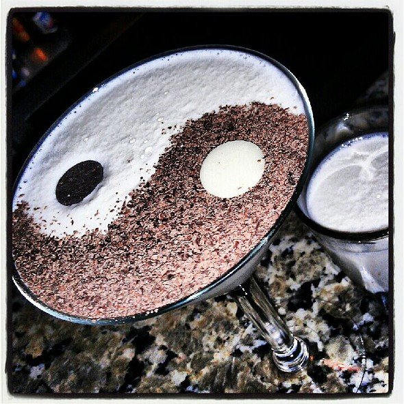 Yin & Yang Chocolate Fondue @ The Melting Pot
