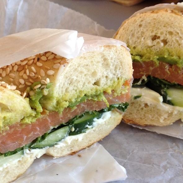 California Roll Sandwich @ Bruegger's Bagels