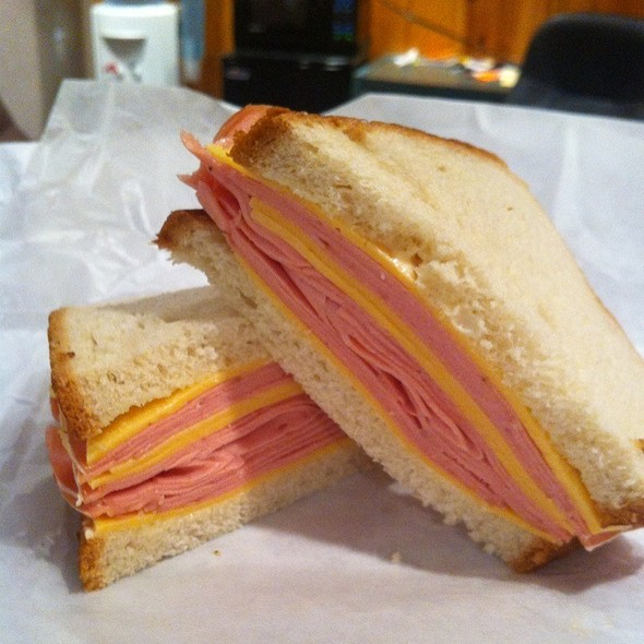 Bologna and Cheese Sandwich @ New York Bagel