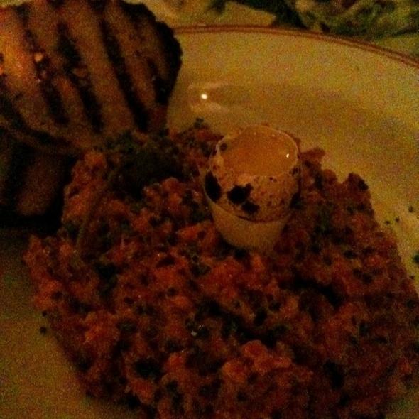 Steak Tartare With Quail Egg @ Ici Bistrô