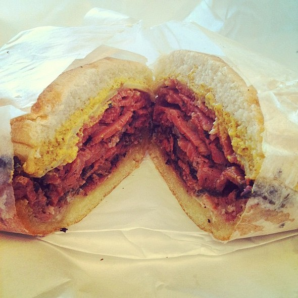 """mini"" pastrami & swiss sandwich  #lunch @ burlingame produce"