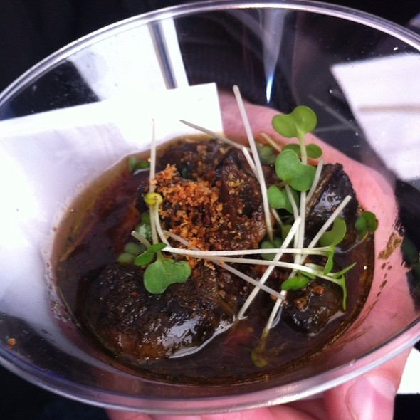 Sauteed West Country Snails, Parsley Root, Roast Garlic Puree And Red Wine Sauce @ Taste of London