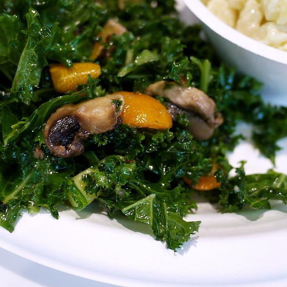 Kale, Mushrooms, Kumquat Vinaigrette
