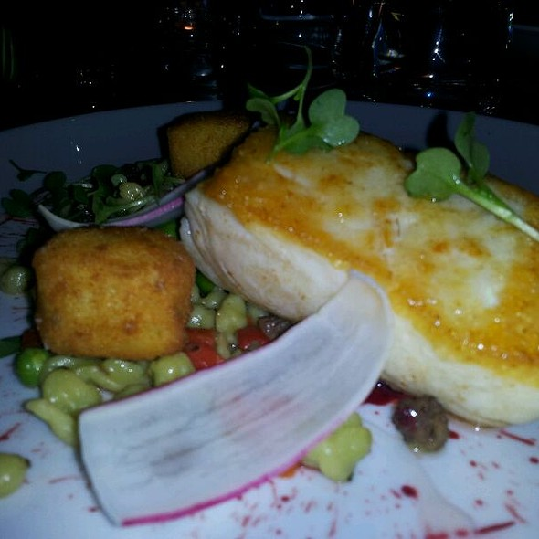 Slow-Cooked Halibut @ Hawksworth Restaurant