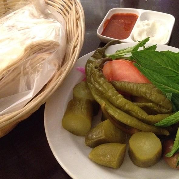 Lebanese Mixed Plate-Pickles + Bread @ Jasmin1 Leichhardt