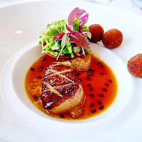 Warm Foie Gras with Passion Fruit