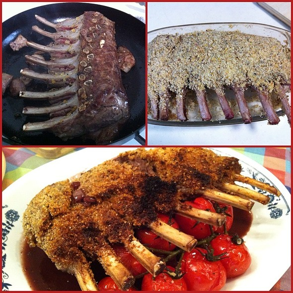 Parmesan Herb Crust Rack Of Lamb