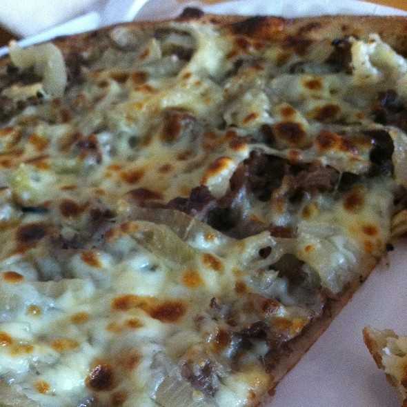 Steak Cheese And Onion Pizza @ Rustica