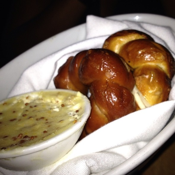 Pretzel Bread With Honey Mustard Butter - Catch New York, New York, NY