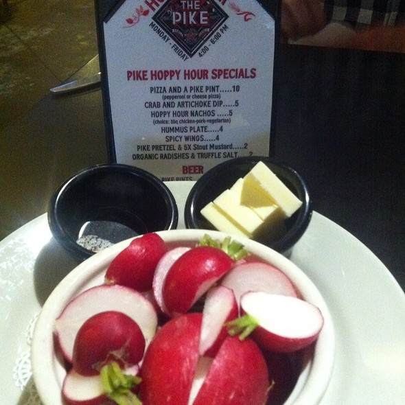 Radishes With Butter And Truffle Salt @ Pike Pub & Brewery