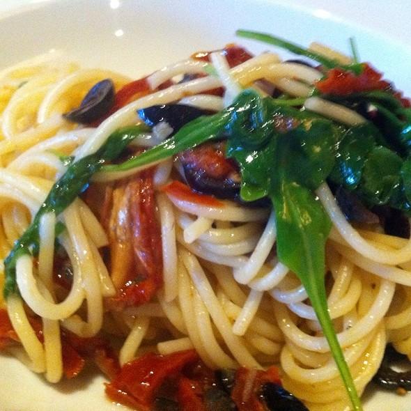 Tomato Spaghetti With Olives And Feta @ Schweizerhof Lenzerheide