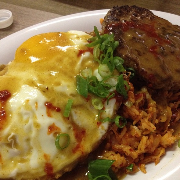 Japanese Curry Kimchee Fried Rice Loco Moco @ HRD Coffee Shop