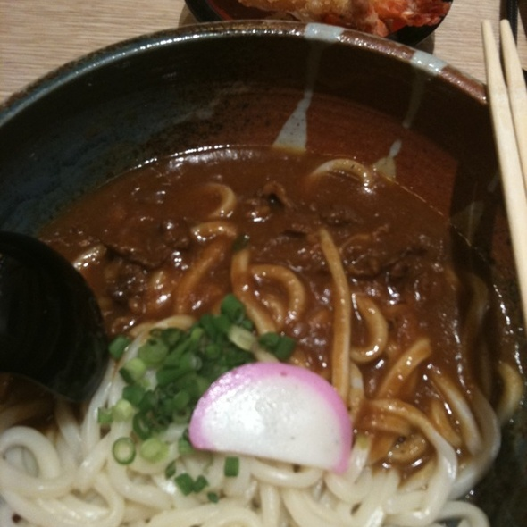 Beef Curry Udon with Tempura