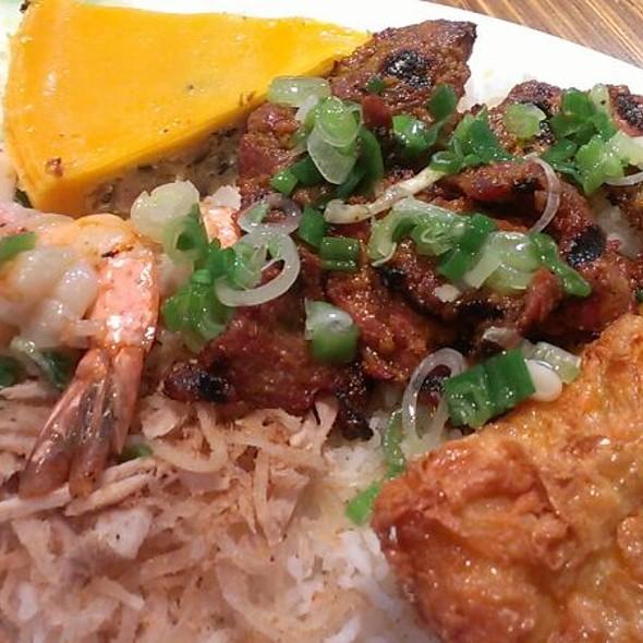 Combination Rice Plate @ Brodard Restaurant