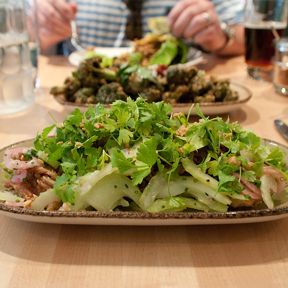 Crispy Pork And Fried Oyster Salad @ Kin Shop