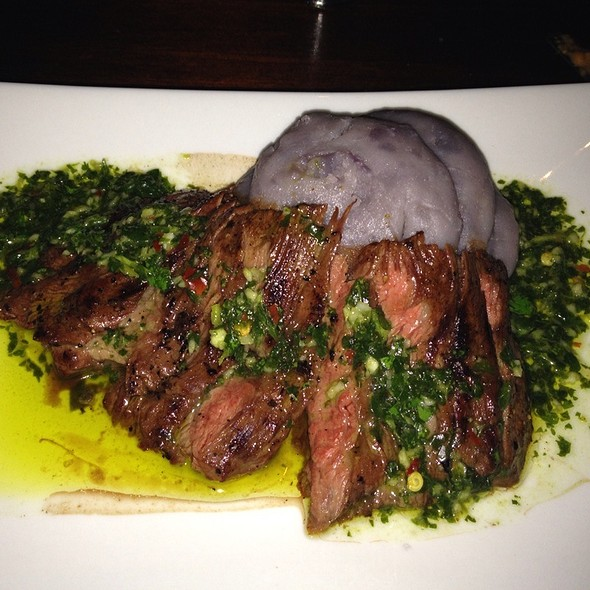 Steak With Chimichurri Sauce And Peruvian Purple Potatoes @ Noche Vinings